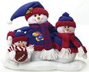 Kansas Jayhawks Table Top Snow Family