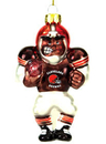 Cleveland Browns Blown Glass Football Player Ornament