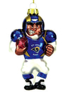 St. Louis Rams Blown Glass Football Player Ornament