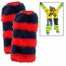 Leg Warmers 2 Pack - Navy Blue/Red