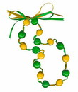 Lucky Kukui Nuts Necklace - Green/Gold