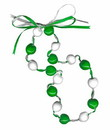 Lucky Kukui Nuts Necklace - Green/White