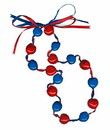 Lucky Kukui Nuts Necklace - Royal/Red