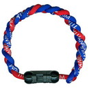Titanium Ionic Braided Wristband - Royal Blue/Red