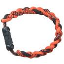 Titanium Ionic Braided Wristband - Orange/Black