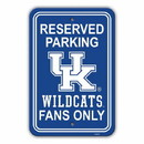 Kentucky Wildcats Sign 12x18 Plastic Reserved Parking Style