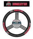 Ohio State Buckeyes Steering Wheel Cover - Leather - New Logo