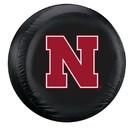 Nebraska Cornhuskers Tire Cover Standard Size Black