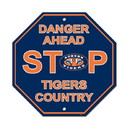 Auburn Tigers Sign 12x12 Plastic Stop Style - Special Order