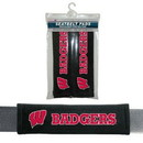 Wisconsin Badgers Seat Belt Pads Velour Special Order