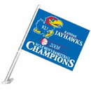 Kansas Jayhawks Car Flag 2008 Men's Basketball National Champions