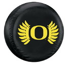 Oregon Ducks Black Tire Cover - Wing - Standard Size