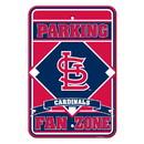 St. Louis Cardinals Sign - Plastic - Fan Zone Parking - 12 in x 18 in