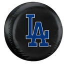 Los Angeles Dodgers Tire Cover Large Size Black Special Order