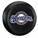 Milwaukee Brewers Black Tire Cover - Standard Size