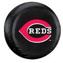 Cincinnati Reds Black Tire Cover - Standard Size