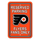 Philadelphia Flyers Sign - Plastic - Reserved Parking - 12 in x 18 in