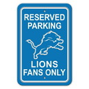 Detroit Lions Sign 12x18 Plastic Reserved Parking Style