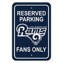 Los Angeles Rams Sign 12x18 Plastic Reserved Parking Style