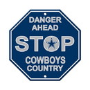 Dallas Cowboys Sign 12x12 Plastic Stop Style - Special Order
