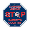 New England Patriots Sign 12x12 Plastic Stop Style - Special Order
