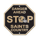 New Orleans Saints Sign 12x12 Plastic Stop Style - Special Order