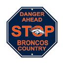 Denver Broncos Sign 12x12 Plastic Stop Style - Special Order