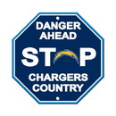 Los Angeles Chargers Sign 12x12 Plastic Stop Style Special Order