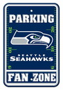 Seattle Seahawks Sign - Plastic - Fan Zone Parking - 12 in x 18 in