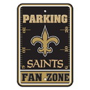 New Orleans Saints Sign - Plastic - Fan Zone Parking - 12 in x 18 in