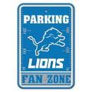 Detroit Lions Sign 12x18 Plastic Fan Zone Parking Style Special Order