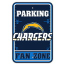 Los Angeles Chargers Sign 12x18 Plastic Fan Zone Parking Style