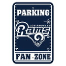 Los Angeles Rams Sign 12x18 Plastic Fan Zone Parking Style Blue and White Logo