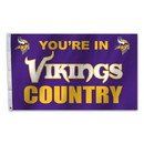 Minnesota Vikings Flag 3x5 Country Design