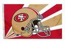 San Francisco 49ers Flag Flag 3x5 Helmet