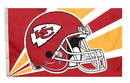 Kansas City Chiefs Flag Flag 3x5 Helmet