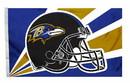 Baltimore Ravens Flag Flag 3x5 Helmet