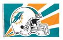 Miami Dolphins Flag Flag 3x5 Helmet
