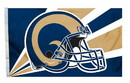 Los Angeles Rams Flag 3x5 Helmet Design
