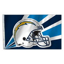 Los Angeles Chargers Flag 3x5 Helmet Design