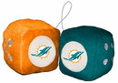 Miami Dolphins Fuzzy Dice