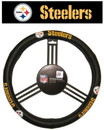 Pittsburgh Steelers Steering Wheel Cover - Leather