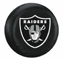 Oakland Raiders Black Tire Cover - Size Large