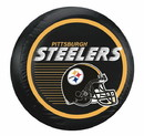 Pittsburgh Steelers Black Helmet Tire Cover - Size Large