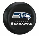 Seattle Seahawks Black Tire Cover - Size Large