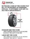 Philadelphia Eagles Black Tire Cover - Size Large