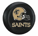 New Orleans Saints Black Tire Cover - Size Large
