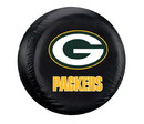 Green Bay Packers Black Tire Cover - Standard Size