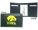Iowa Hawkeyes Embroidered Leather Tri-Fold Wallet