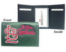 St. Louis Cardinals Embroidered Leather Tri-Fold Wallet